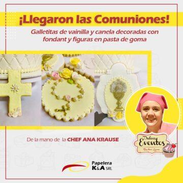 Galletitas decoradas para comunión by Ana Krause