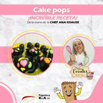 Cake pop pastelitos con onda! By Ana Krause